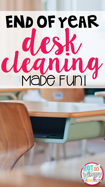 This is the perfect activity for the last day of school! The desks are getting cleaned and students are having a blast!