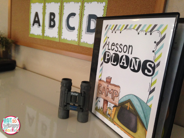 Camping Theme Classroom Decor from Not So Wimpy Teacher