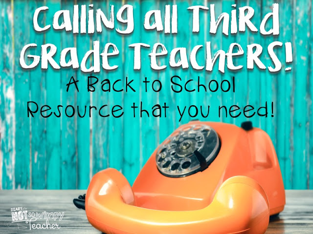 Calling all third grade teachers! This is a back to school activity to you need to try!