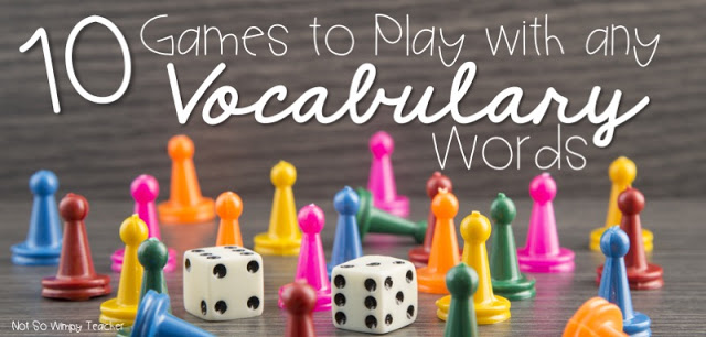 Games to play with vocabulary words