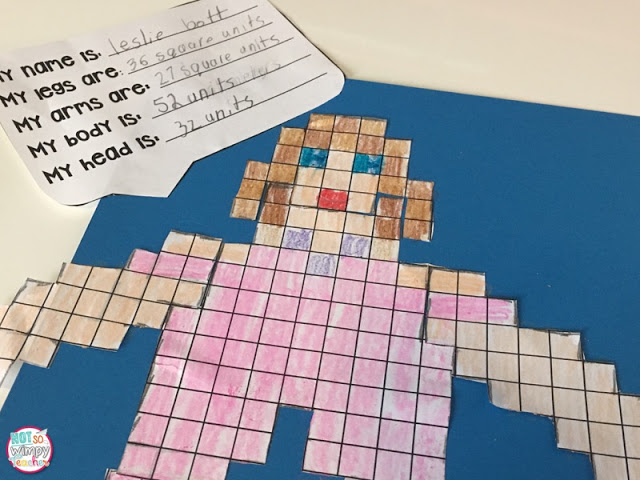 Area and perimeter robots are a fun way to create in math class!
