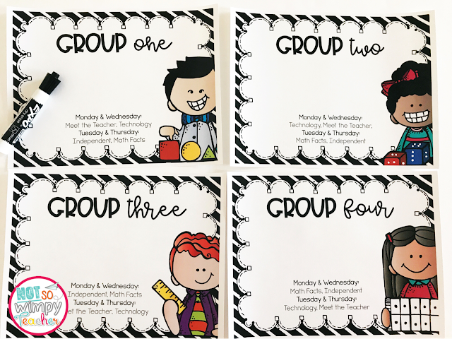 Ways to organize your math groups!