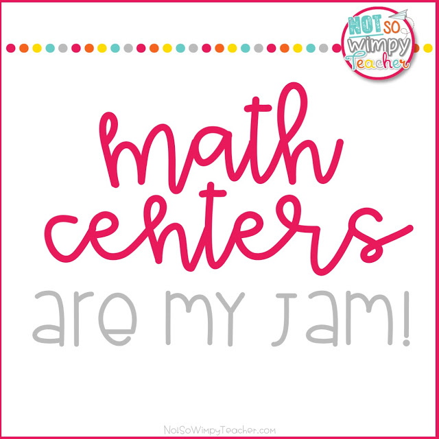 Math Centers are my Jam!