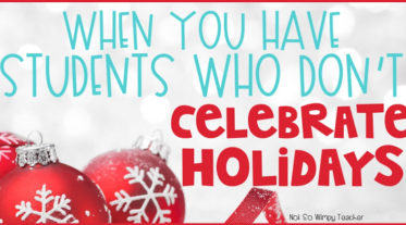 Students who do not celebrate holidays