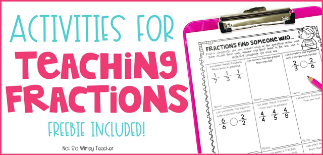 Activities, apps, games and centers to help teach and practice fractions