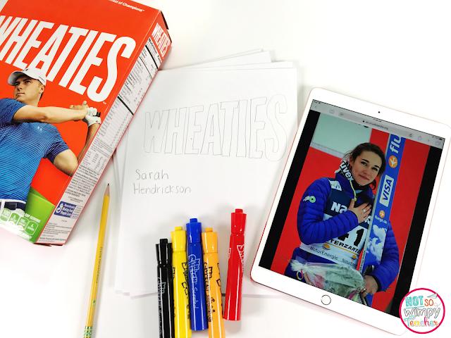 Fun academic classroom activities that involve the Winter Olympics!