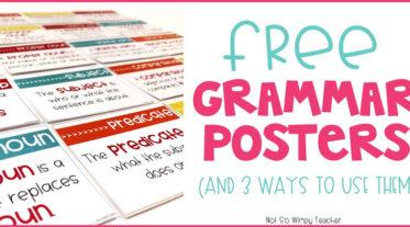 Free grammar posters