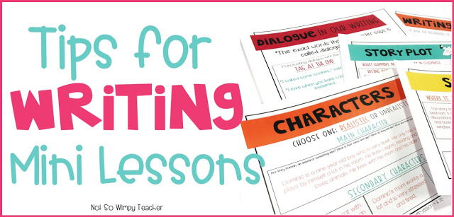 Ideas to keep your writers engaged and learning during your writing mini lessons!