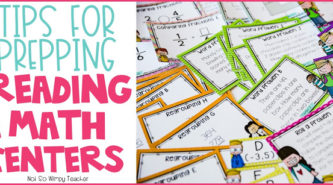 Prepping math and reading centers