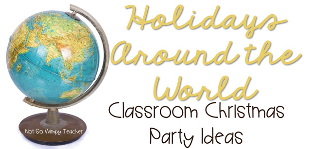 Food, books and activities for a Holidays Around the World classroom celebration