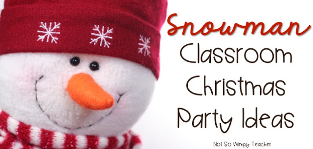 Ideas for a snow themed holiday party in the classroom