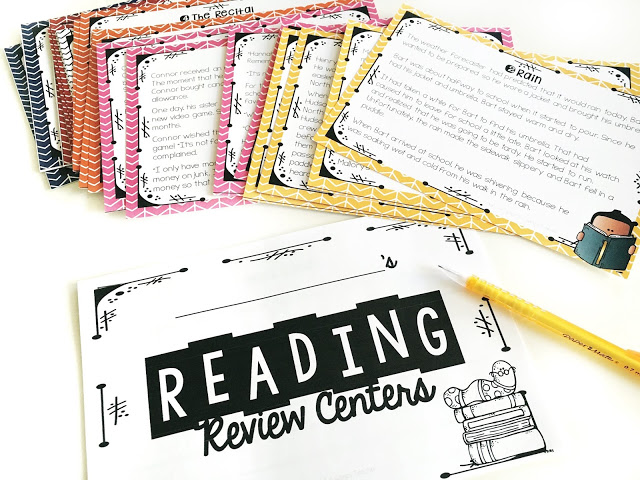 Cards from reading review test prep centers