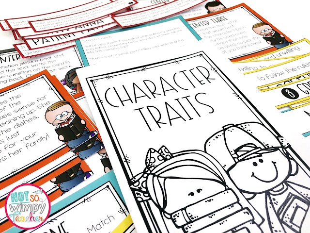 character traits activity in reading resources for third grade