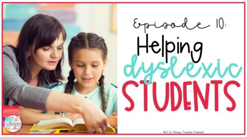 Helping Dyslexic Students