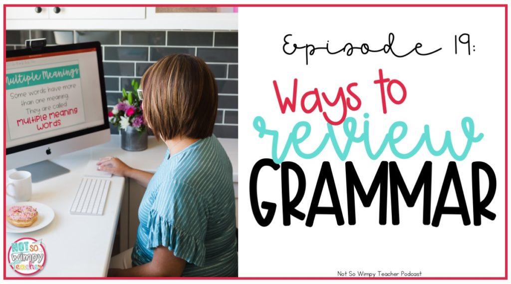 Ways to review grammar skills