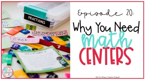 Why should you use math centers and a math workshop?