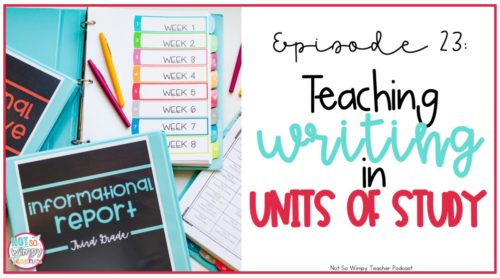 Teaching writing in units of study
