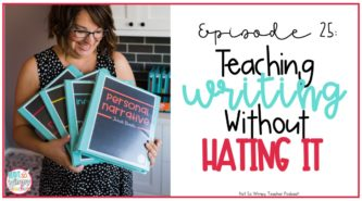 How to teach writing without hating it