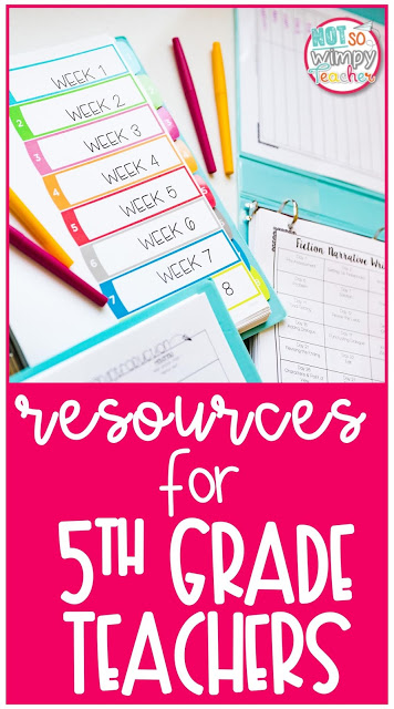 Resources for fifth grade pin