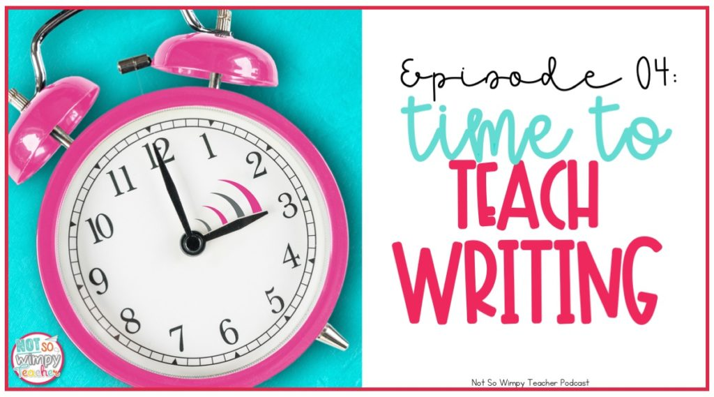 Finding time for writing workshop