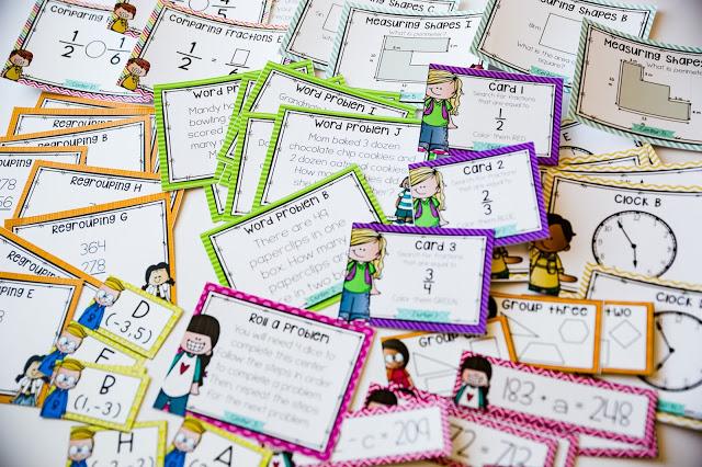Math center resources for fourth grade
