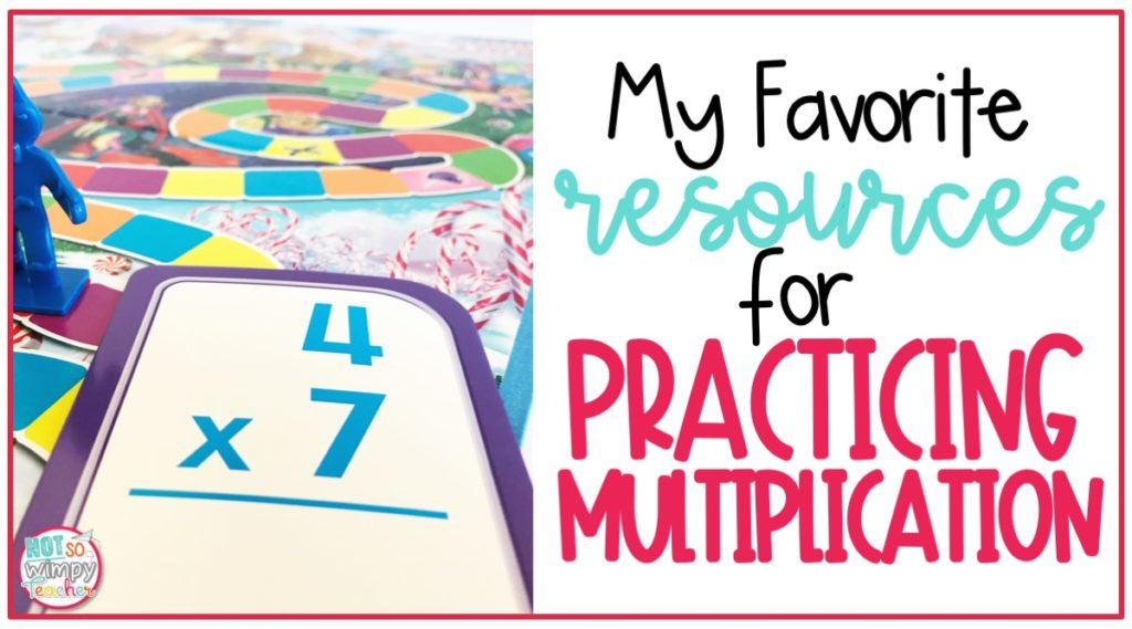 Resources for practicing multiplication facts including games, centers and websites