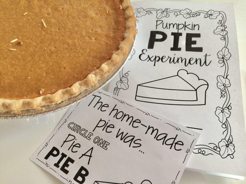 Thanksgiving pumpkin pie science experiment