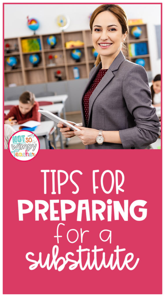 Tips for preparing for a classroom substitute teacher