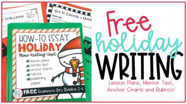 Free Christmas how-to writing unit