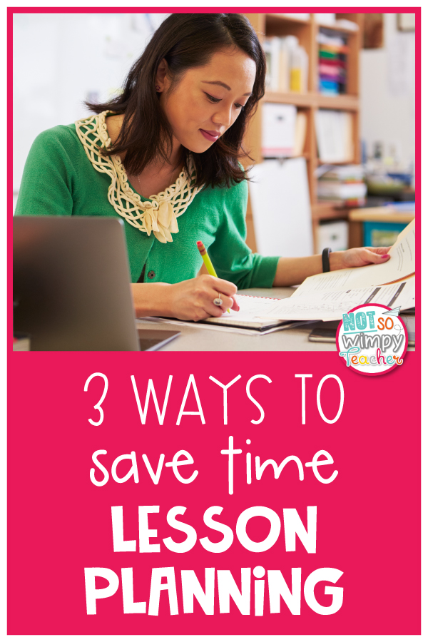 Save time lesson planning