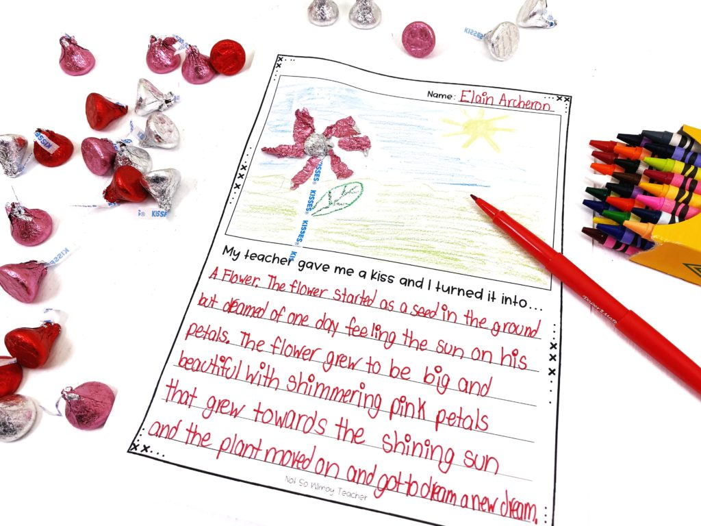Valentine's Day writing activity for the classroom