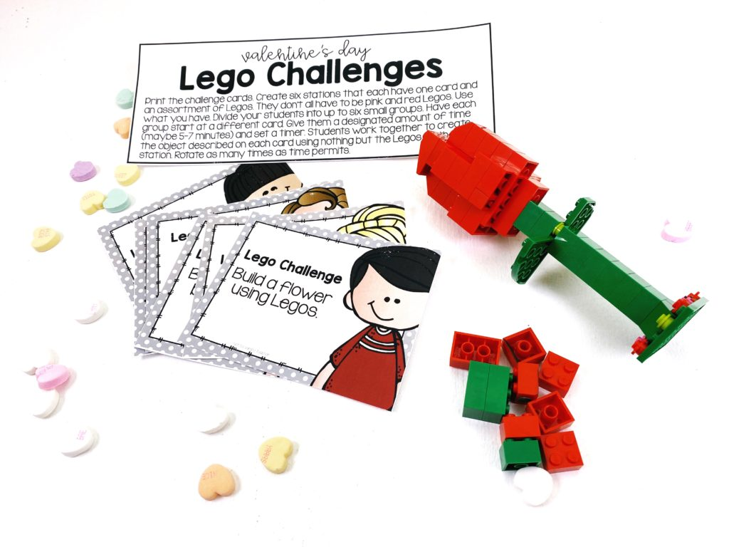Valentine's Day Lego STEM challenges