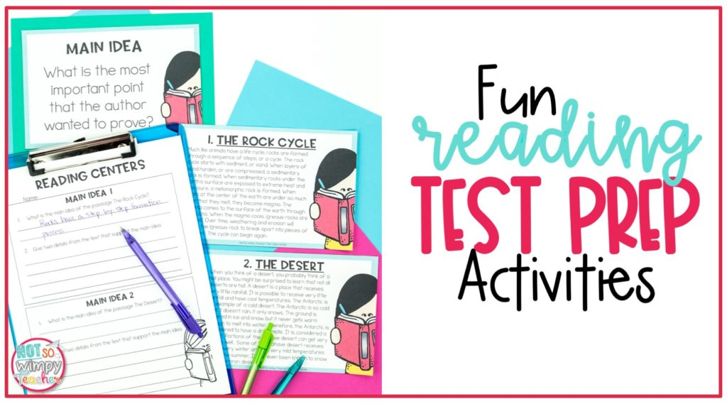 Fun reading. test prep games and activities
