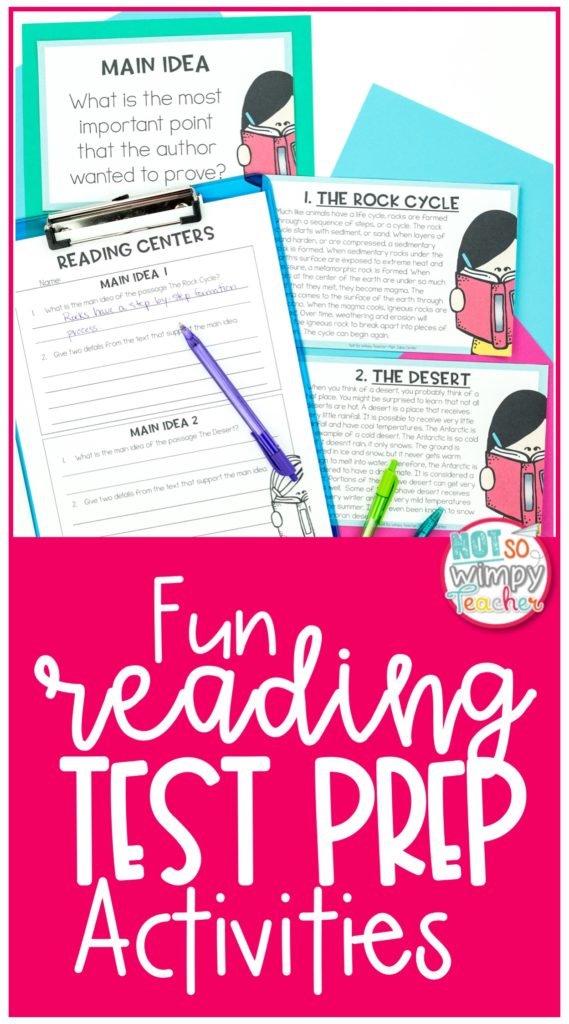 Reading. Test Prep Activities
