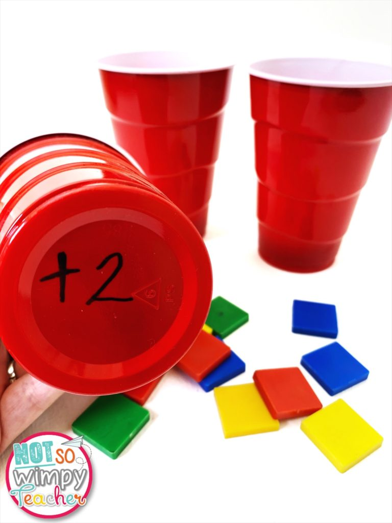 Cups test prep review game