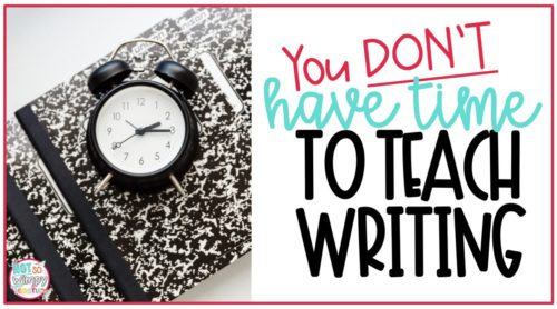 Finding time to teach writing