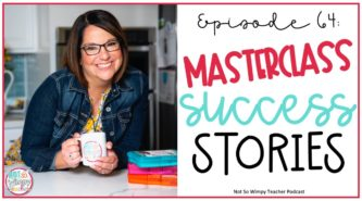 smiling teacher with text overlay masterclass success stories