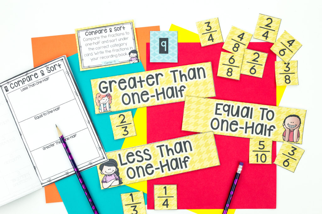 Math Fractions Centers