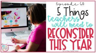 teacher writing at desk