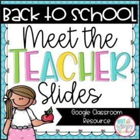 Digital Meet the Teacher Slides