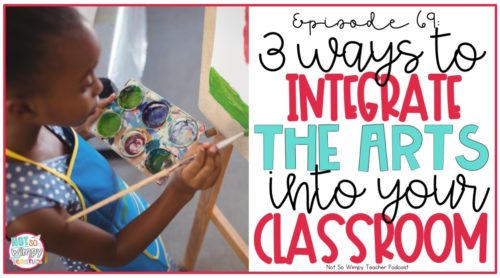 young black girl painting a canvas