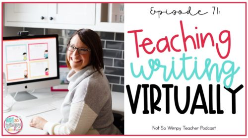 smiling teacher teaching virtually