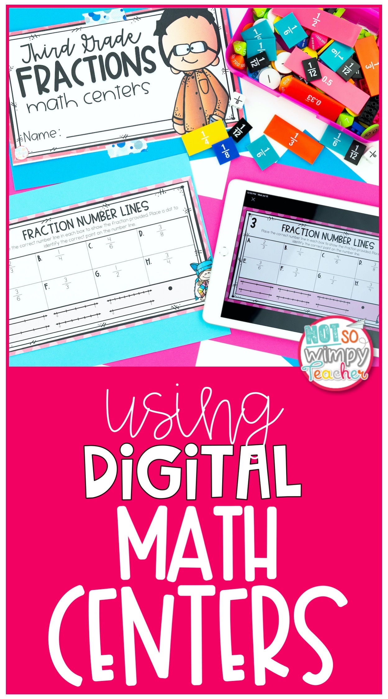 ipad with digital math center