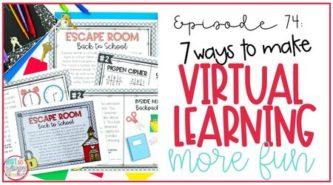 teacher making virtual learning more fun