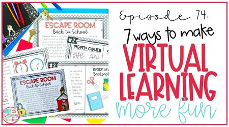 teacher making virtual learning more fun