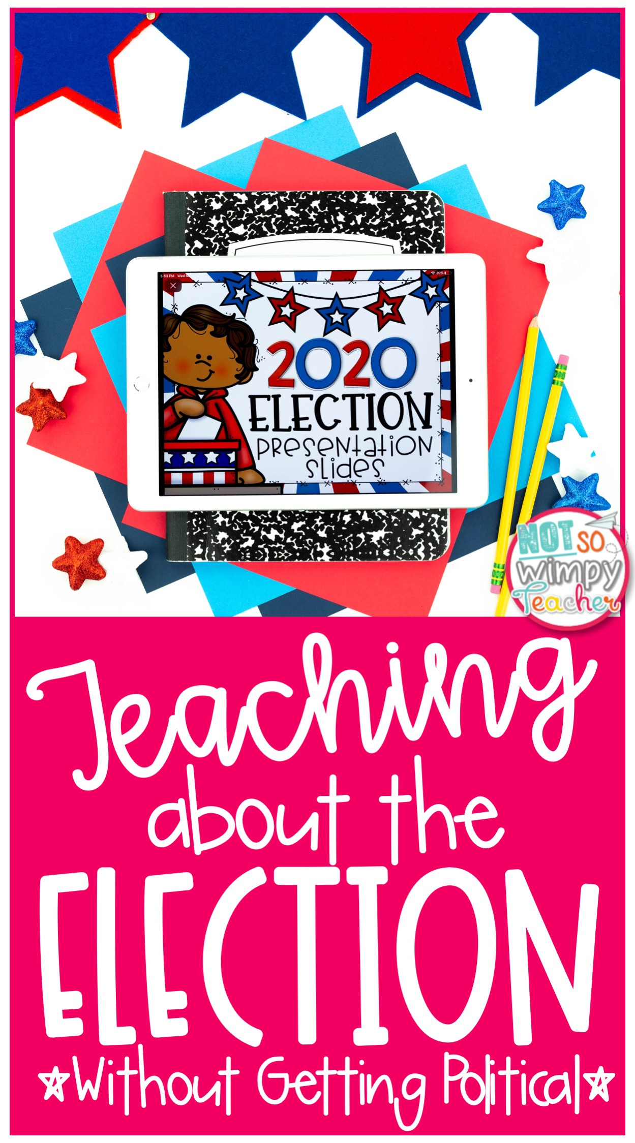 ipad featuring digital election activity for kids