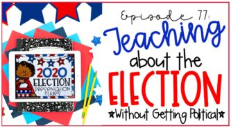 digital election activity for kids featured on iPad