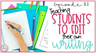 teaching students to edit their writing