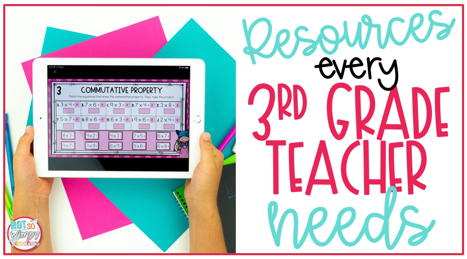 Resources Every 3rd Grade Teacher Needs - Not So Wimpy Teacher