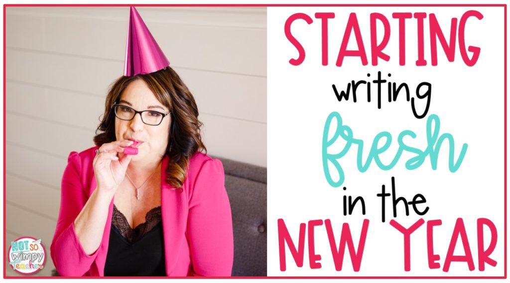 Woman with party hat and noisemaker for Starting Writing Fresh in the New Year cover image